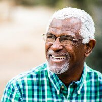 Man at risk for glaucoma