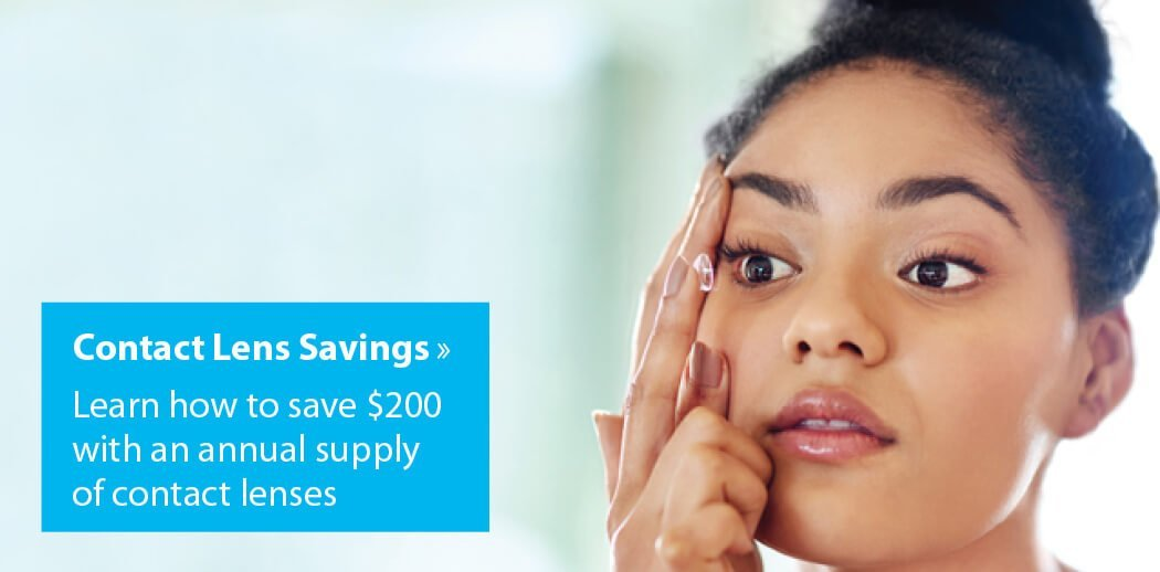 Save $200 on an annual supply of contact lenses